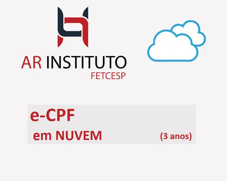 PRONUVEM e-CPF A3 (3ANOS)