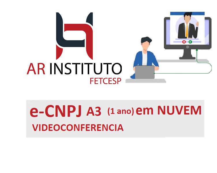 VIDEOCONFERENCIA - ECNPJ A3 (1 ANO) EM NUVEM